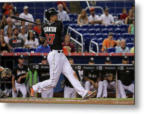 People Metal Print featuring the photograph Giancarlo Stanton by Mike Ehrmann