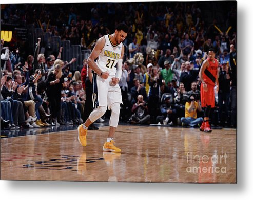 Nba Pro Basketball Metal Print featuring the photograph Jamal Murray by Bart Young