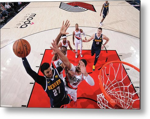 Playoffs Metal Print featuring the photograph Jamal Murray by Sam Forencich