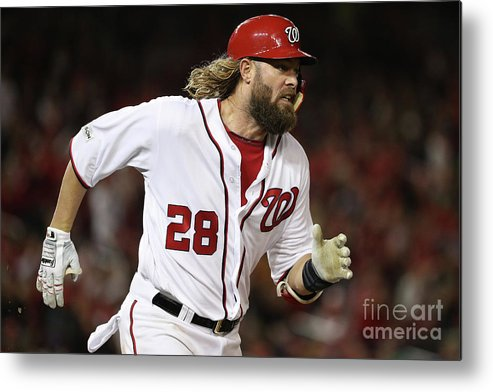 American League Baseball Metal Print featuring the photograph Jayson Werth by Patrick Smith