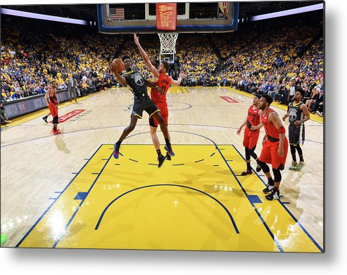 Game Two Metal Print featuring the photograph Jordan Bell by Andrew D. Bernstein