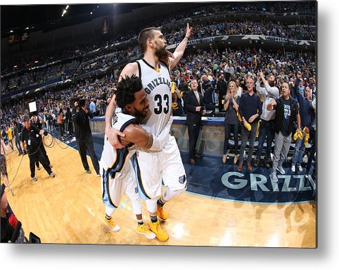 Playoffs Metal Print featuring the photograph Mike Conley by Joe Murphy