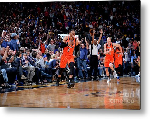 Nba Pro Basketball Metal Print featuring the photograph Russell Westbrook by Bart Young