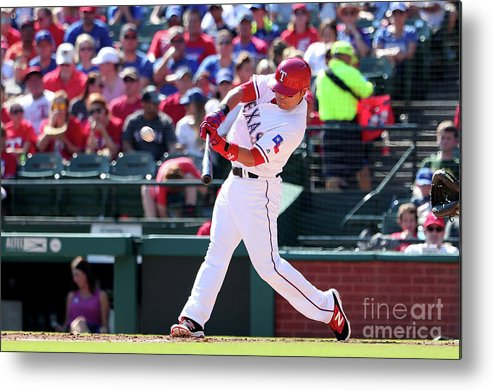 People Metal Print featuring the photograph Shin-soo Choo by Tom Pennington