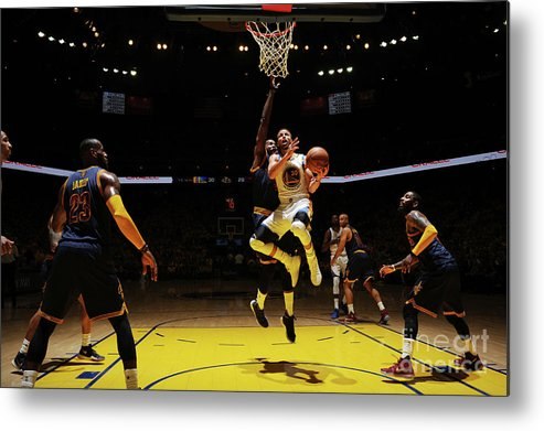 Playoffs Metal Print featuring the photograph Stephen Curry by Garrett Ellwood