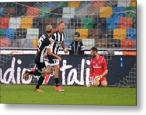 Udine Metal Print featuring the photograph Udinese Calcio v Atalanta BC - Serie A by Dino Panato