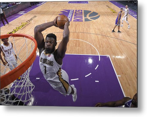 Nba Pro Basketball Metal Print featuring the photograph Zion Williamson by Rocky Widner