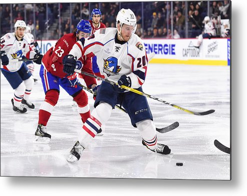 Sport Metal Print featuring the photograph AHL: APR 06 Springfield Thunderbirds at Laval Rocket by Icon Sportswire