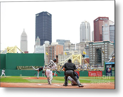 American League Baseball Metal Print featuring the photograph Andrew Mccutchen by Jared Wickerham
