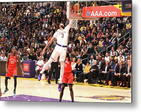 Nba Pro Basketball Metal Print featuring the photograph Anthony Davis by Andrew D. Bernstein