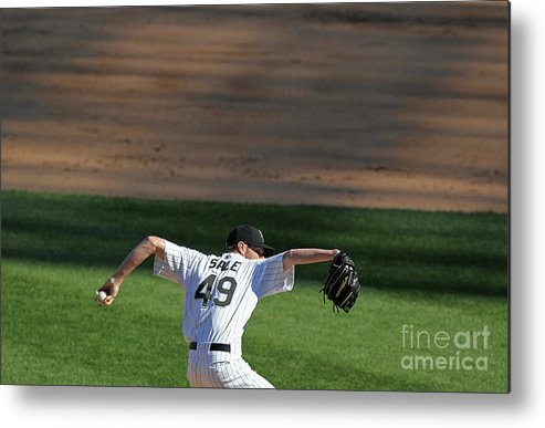 American League Baseball Metal Print featuring the photograph Chris Sale by Jonathan Daniel