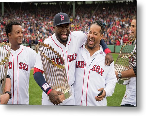 People Metal Print featuring the photograph David Ortiz by Michael Ivins/boston Red Sox