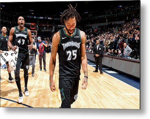 Nba Pro Basketball Metal Print featuring the photograph Derrick Rose by David Sherman