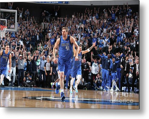 Nba Pro Basketball Metal Print featuring the photograph Dirk Nowitzki by Nathaniel S. Butler