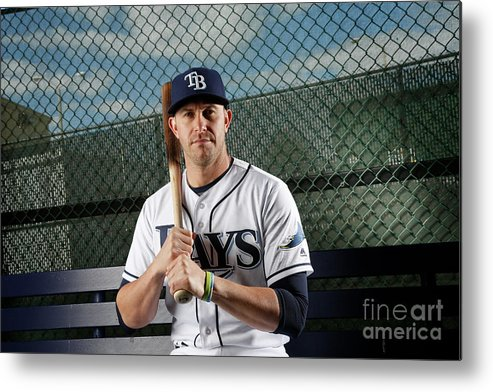 Media Day Metal Print featuring the photograph Evan Longoria by Brian Blanco