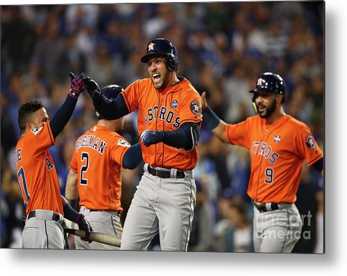 Second Inning Metal Print featuring the photograph George Springer by Ezra Shaw