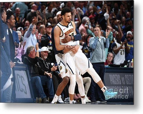 Playoffs Metal Print featuring the photograph Jamal Murray by Garrett Ellwood