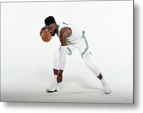 Media Day Metal Print featuring the photograph Jaylen Brown by Brian Babineau