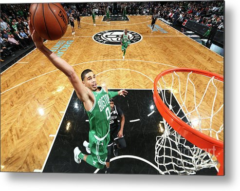 Nba Pro Basketball Metal Print featuring the photograph Jayson Tatum by Nathaniel S. Butler
