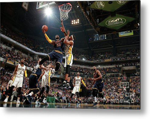 Playoffs Metal Print featuring the photograph Lebron James by Jeff Haynes