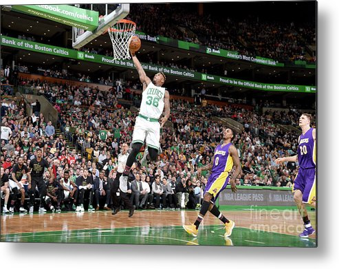 Nba Pro Basketball Metal Print featuring the photograph Marcus Smart by Brian Babineau