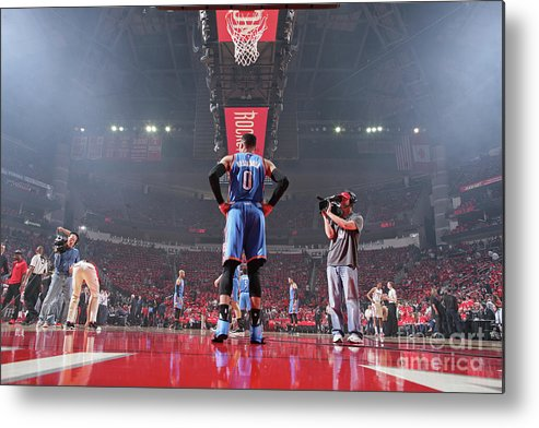 Playoffs Metal Print featuring the photograph Russell Westbrook by Nathaniel S. Butler