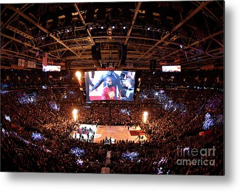 Playoffs Metal Print featuring the photograph Lebron James by David Liam Kyle