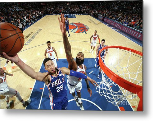 Sports Ball Metal Print featuring the photograph Ben Simmons by Nathaniel S. Butler