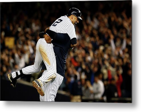 Ninth Inning Metal Print featuring the photograph Derek Jeter by Elsa