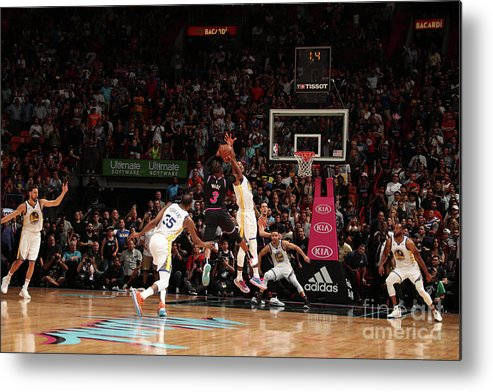 Nba Pro Basketball Metal Print featuring the photograph Dwyane Wade by Issac Baldizon