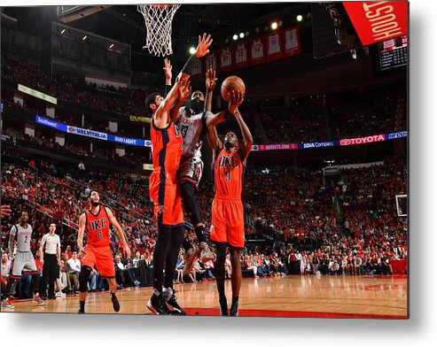 Nba Pro Basketball Metal Print featuring the photograph James Harden by Jesse D. Garrabrant