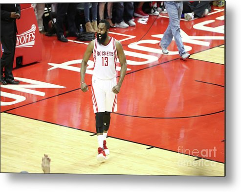Playoffs Metal Print featuring the photograph James Harden by Nathaniel S. Butler