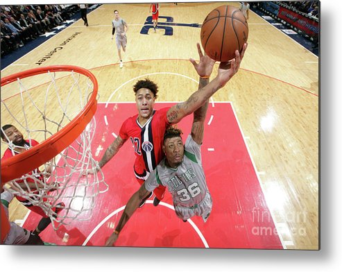 Nba Pro Basketball Metal Print featuring the photograph Kelly Oubre by Ned Dishman