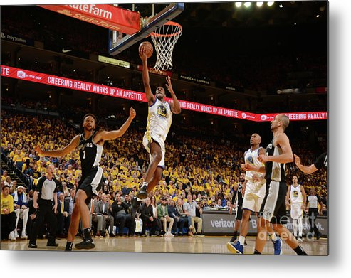 Playoffs Metal Print featuring the photograph Kevon Looney by Noah Graham