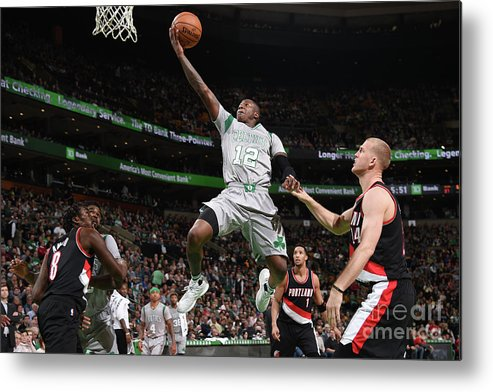 Nba Pro Basketball Metal Print featuring the photograph Terry Rozier by Brian Babineau