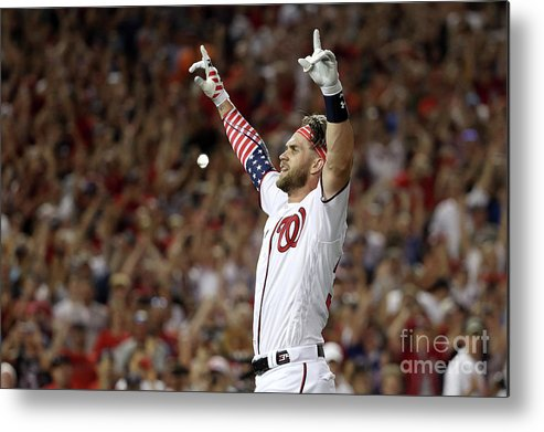 Three Quarter Length Metal Print featuring the photograph Bryce Harper by Patrick Smith