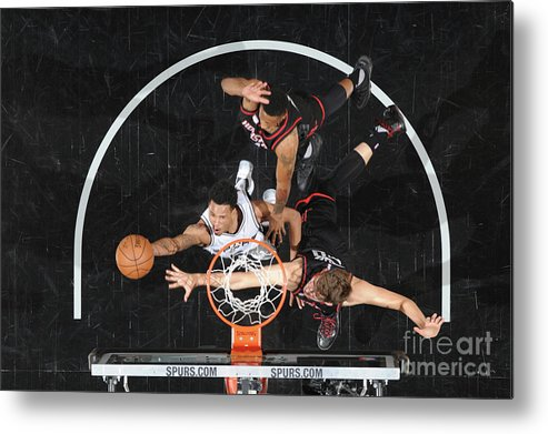 Playoffs Metal Print featuring the photograph Dejounte Murray by Mark Sobhani