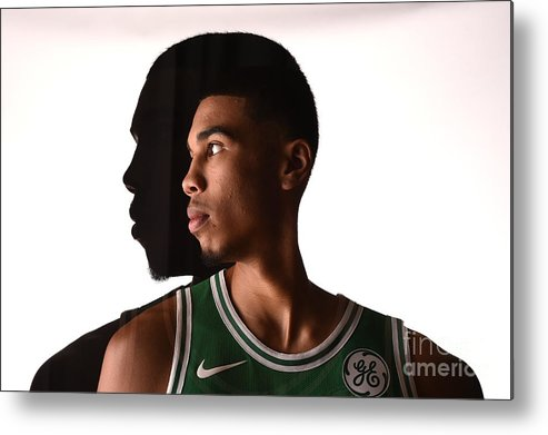 Nba Pro Basketball Metal Print featuring the photograph Jayson Tatum by Brian Babineau