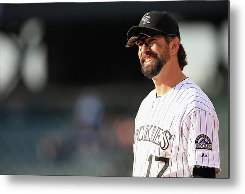 Todd Helton Metal Print featuring the photograph Todd Helton by Doug Pensinger