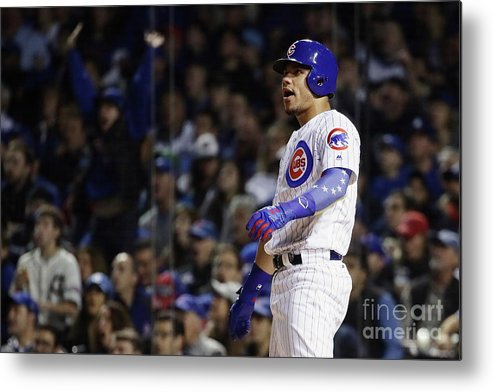 Second Inning Metal Print featuring the photograph Willson Contreras by Jonathan Daniel