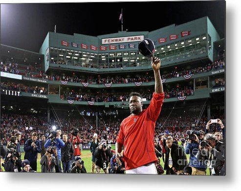 Three Quarter Length Metal Print featuring the photograph David Ortiz by Maddie Meyer