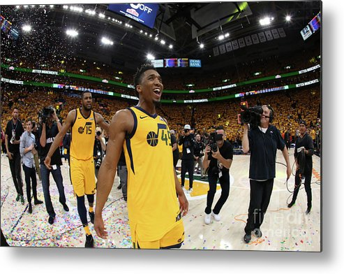 Playoffs Metal Print featuring the photograph Donovan Mitchell by Melissa Majchrzak