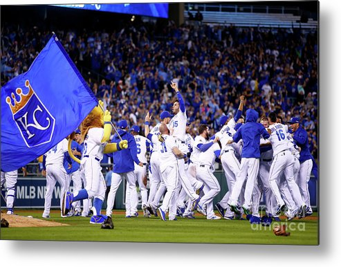People Metal Print featuring the photograph Eric Hosmer by Jamie Squire