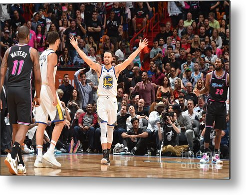 Nba Pro Basketball Metal Print featuring the photograph Stephen Curry by Jesse D. Garrabrant