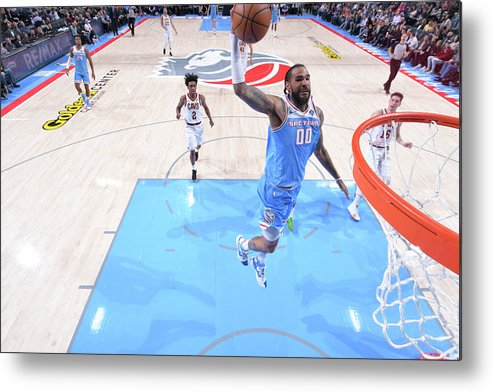 Nba Pro Basketball Metal Print featuring the photograph Willie Cauley-stein by Rocky Widner