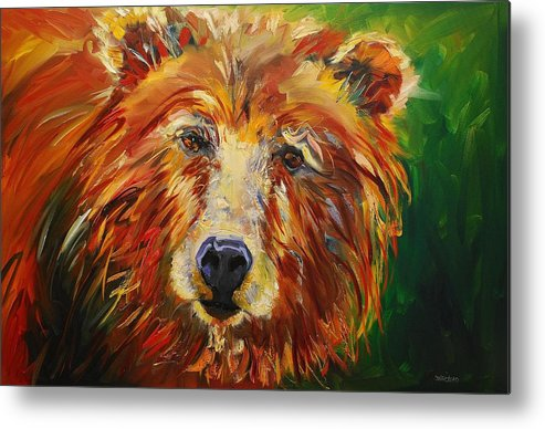 Bear Metal Print featuring the painting A Bunch Of Bear by Diane Whitehead