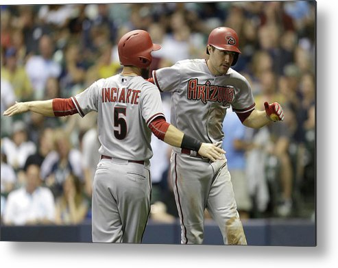 Ninth Inning Metal Print featuring the photograph A. J. Pollock by Mike Mcginnis