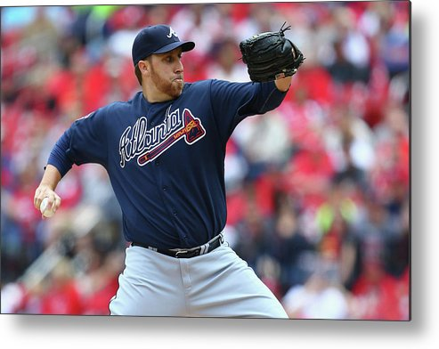 Aaron Harang Metal Print featuring the photograph Aaron Harang by Dilip Vishwanat