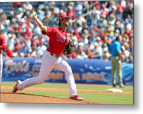 Aaron Nola Metal Print featuring the photograph Aaron Nola by Icon Sportswire