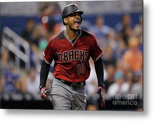 Three Quarter Length Metal Print featuring the photograph Adam Jones by Michael Reaves